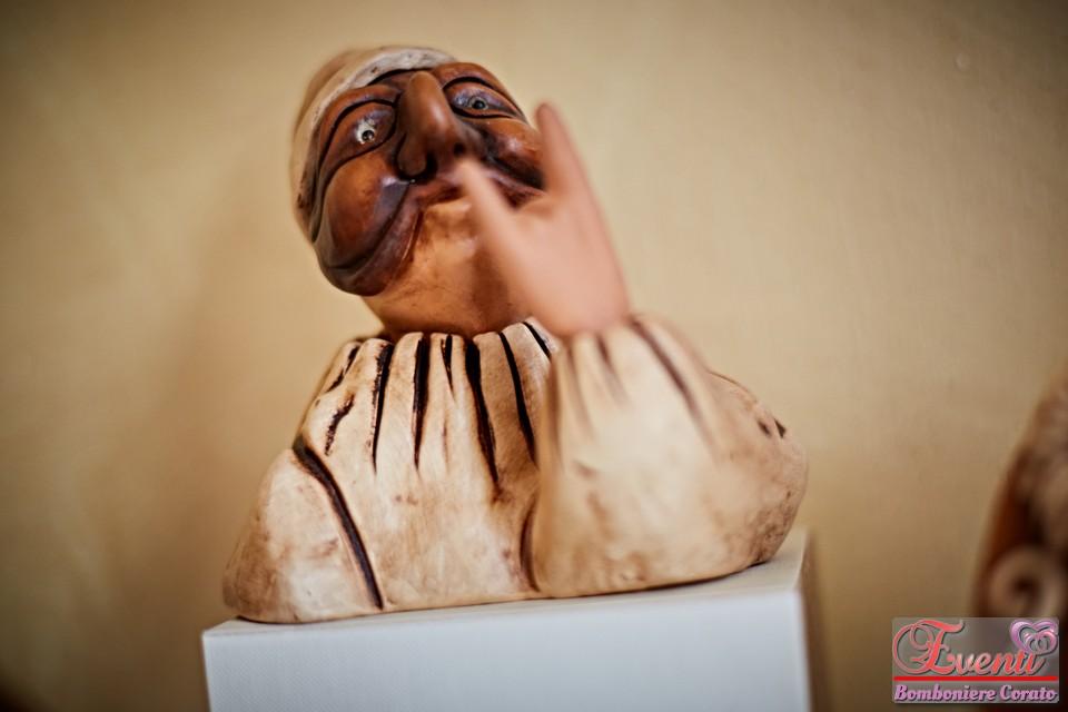 Pulcinella in terracotta