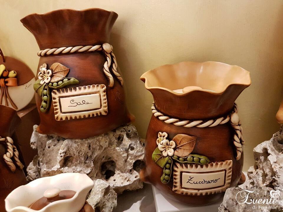 """Barattoli in terracotta linea """"Sacco"""" - Ceramiche Artistiche Velier"""