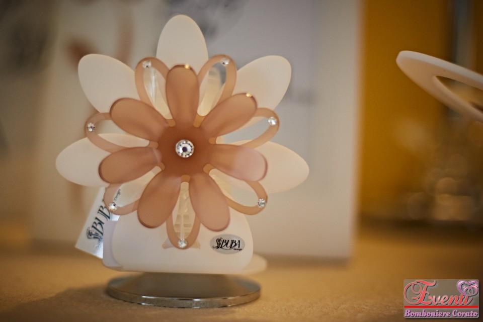 Portabicchieri linea fiore in cristallo acrilico