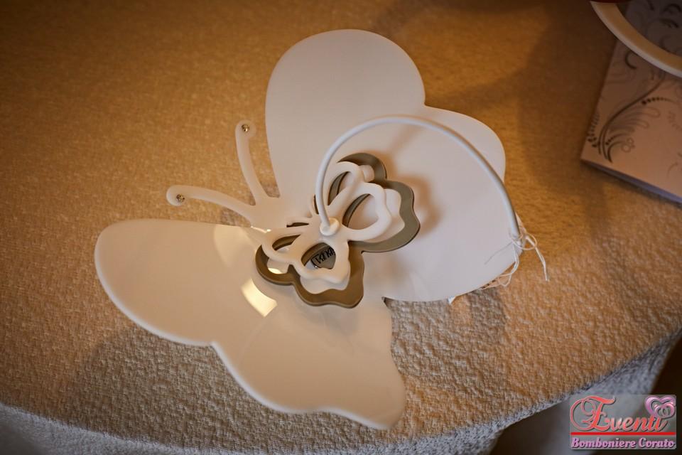Portatovaglioli linea farfalla in cristallo acrilico