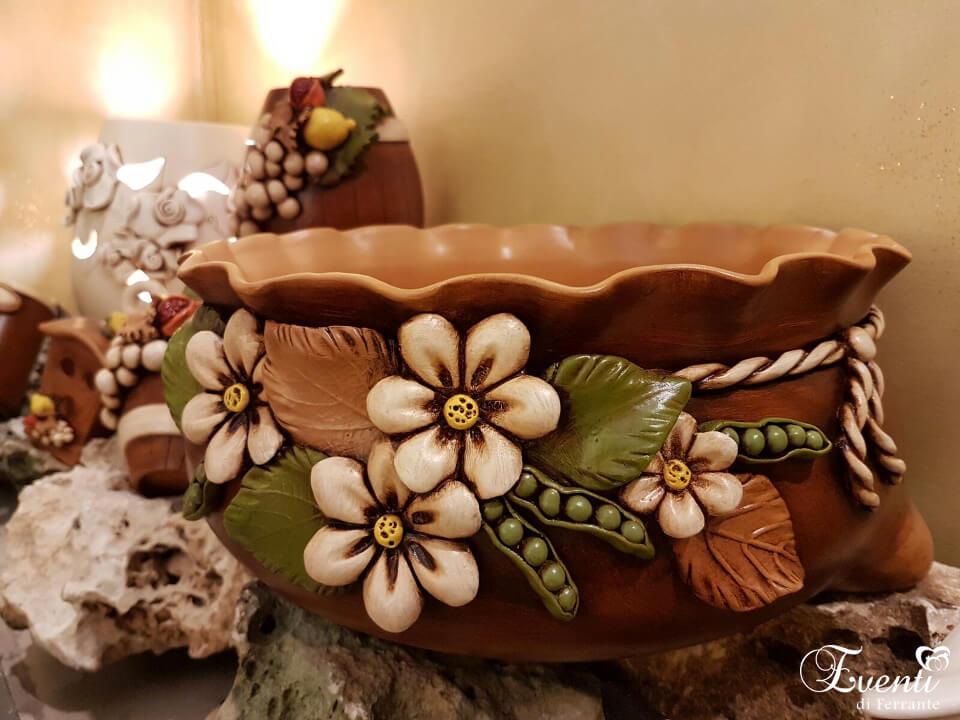 """Centrotavola in terracotta linea """"Sacco"""" - Ceramiche Artistiche Velier"""