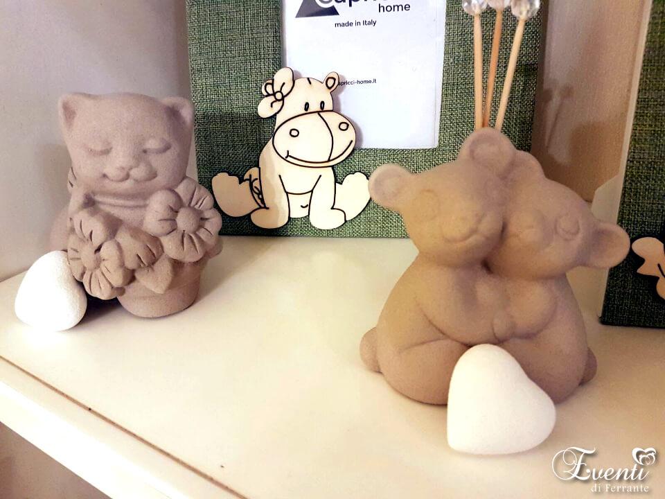 Coppia orsetti in capodimonte sabbiati, profumatori per ambiente