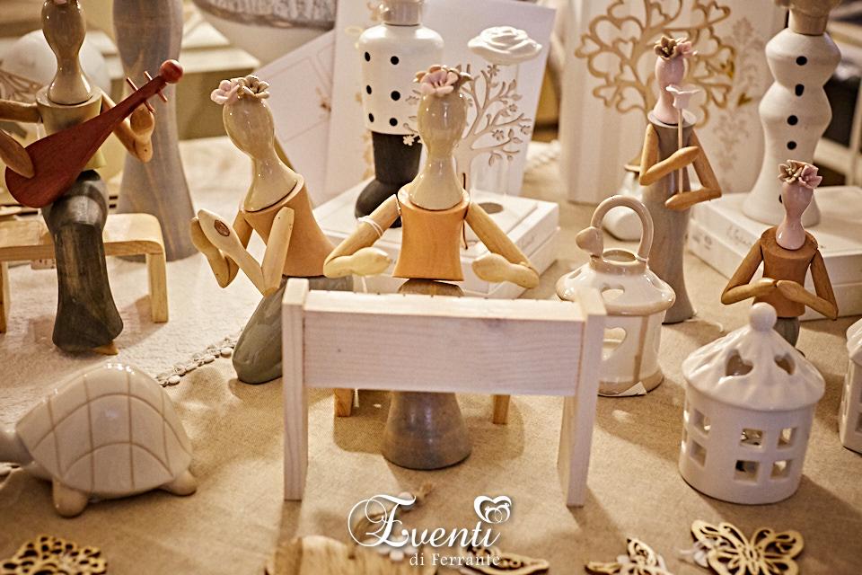 Dama in legno e porcellana con piano - L'Infinito Bomboniere