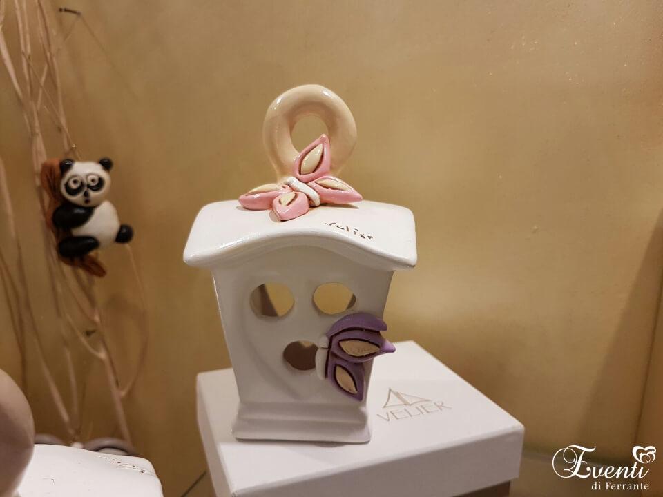 """Lanterna in terracotta decoro """"farfalla"""" - Ceramiche Artistiche Velier"""