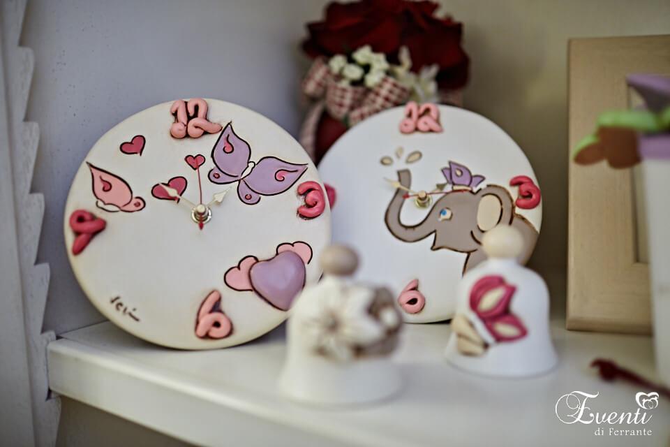 """Orologio da tavolo in terracotta linea """"Baby"""" - Ceramiche Artistiche Velier"""