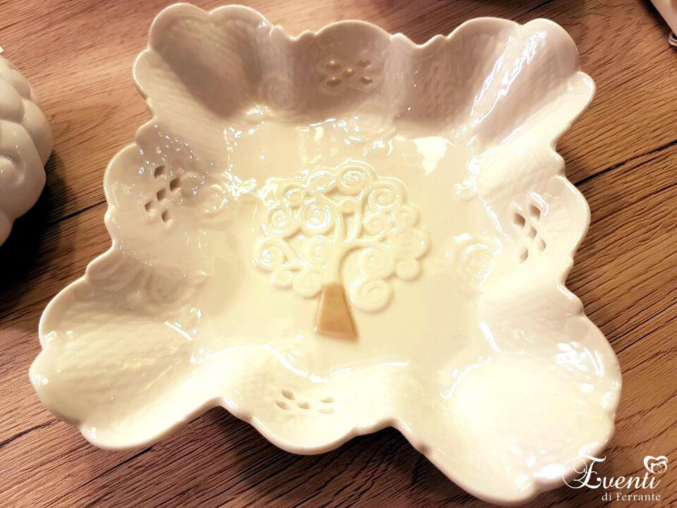 Piattino in porcellana con Albero della Vita