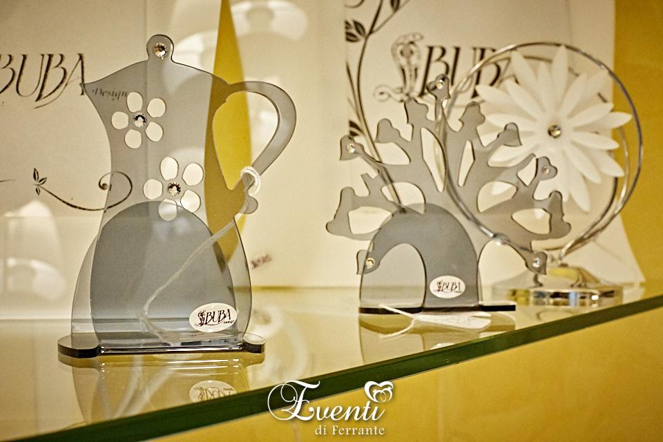 Portatovaglioli caffettiera in cristallo acrilico e strass - Buba Design