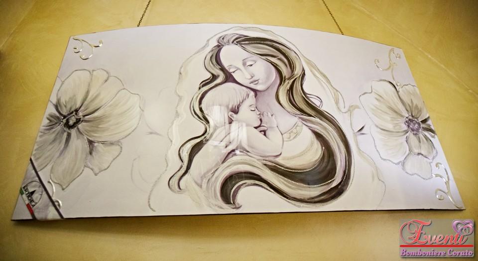 Quadro artigianale curvo con Maternità