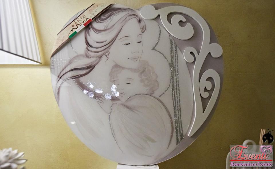 Quadro artigianale modello Cuore soggetto Maternità