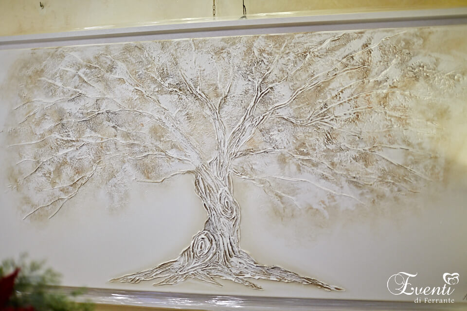 Quercia dipinto su tela con applicazioni rilievo - ARTMAIORA