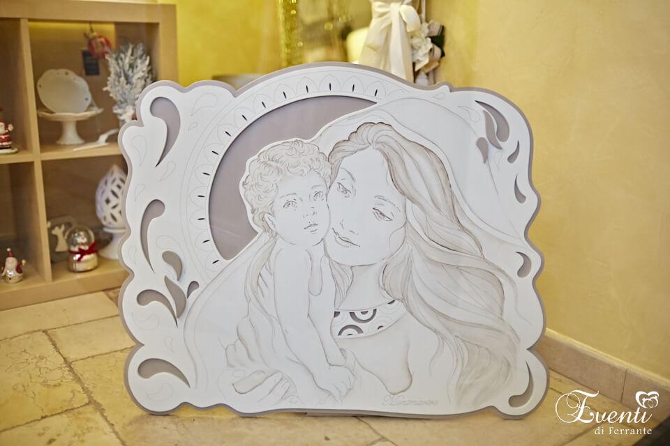 Sacra famiglia incisa su legno - MONTMARTRE
