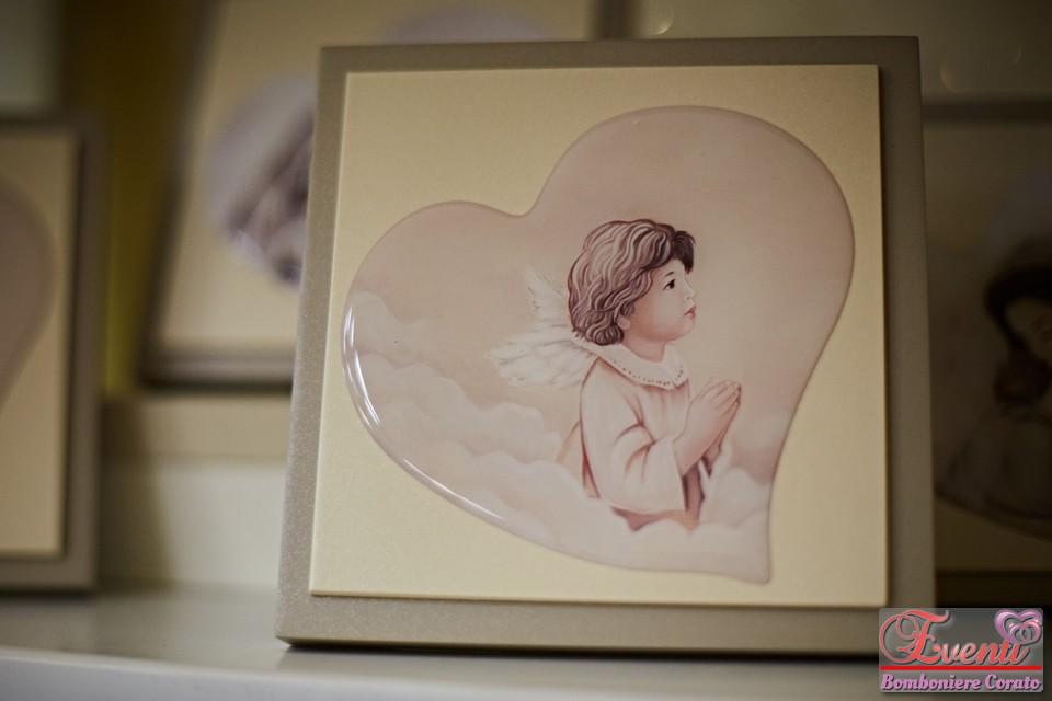 Angelo dipinto a mano su pannello in legno