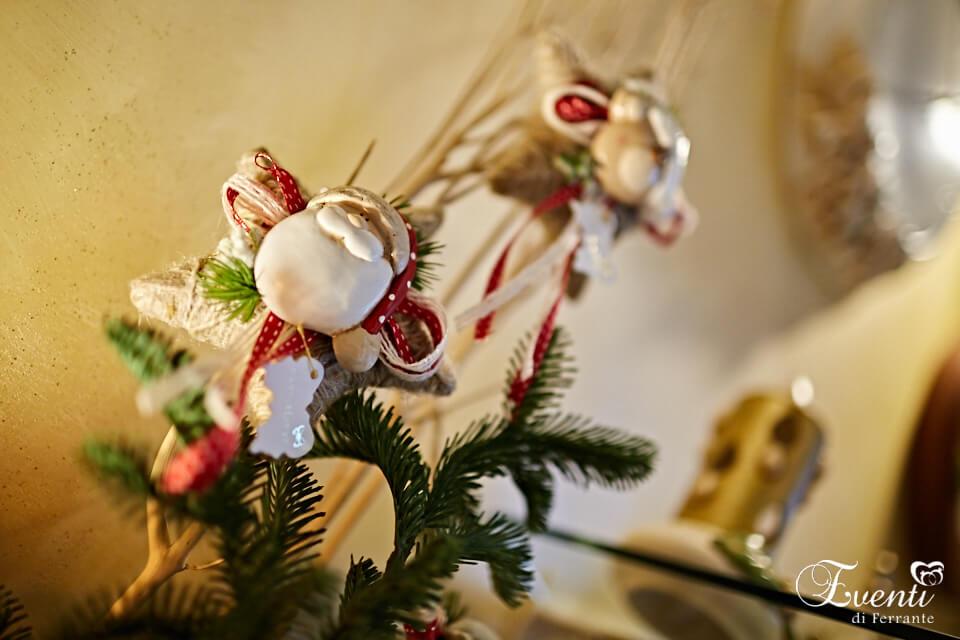 Stella naturale con Babbo Natale in terracotta