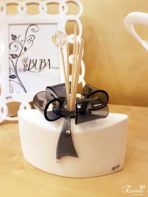 Profumatore in ceramica con fiocco in cristallo acrilico - Buba Design