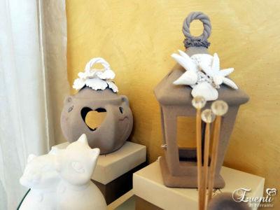 Lanterne in Capodimonte sabbiato tortora - La Capodimonte Chic