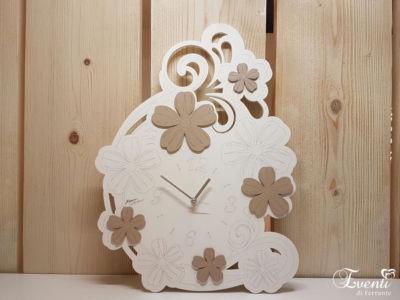 Orologio da parete con fiori in legno taglio laser - MONTMARTRE