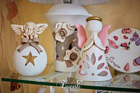 Angioletti in terracotta portacandela - Ceramiche Artistiche Velier