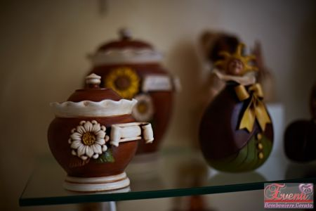 Barattolini in terracotta con margherita/girasole