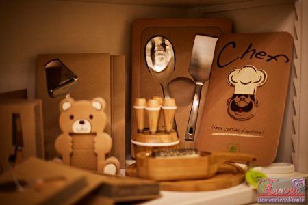 """Utensili cucina legno e acciaio linea """"Eco Chef"""""""