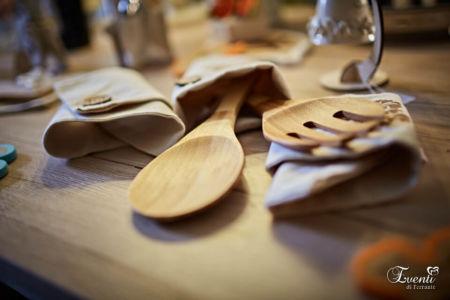Coppia posate in legno