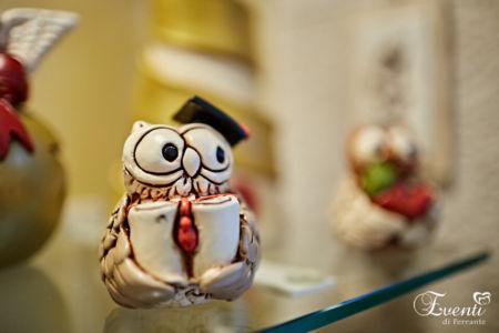 """Gufetto """"laureato"""" in terracotta - Ceramiche Artistiche Velier"""
