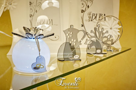 Lampada a sfera con led in cristallo acrilico e strass - Buba Design