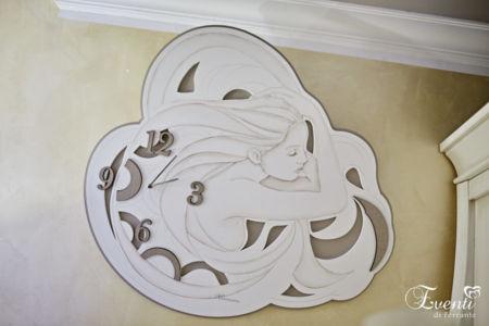 Orologio con dama inciso su legno - MONTMARTRE
