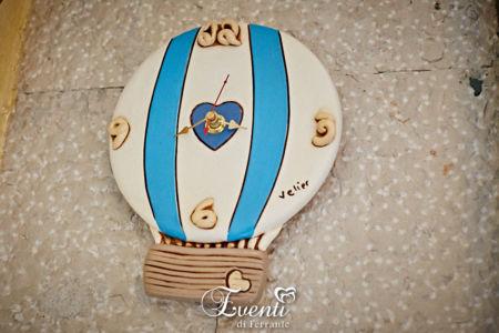 Orologio in terracotta modello mongolfiera - Ceramiche Artistiche Velier