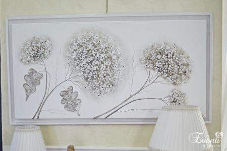 Ortensia dipinto su tela con particolari a rilievo - ARTMAIORA