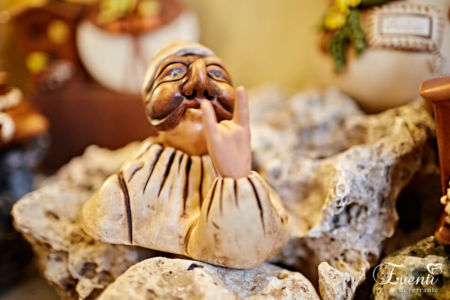 Pulcinella con corna in terracotta - Ceramiche Artistiche Velier