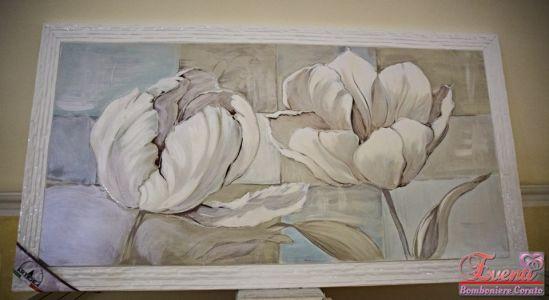 Quadro artigianale soggetto fiore