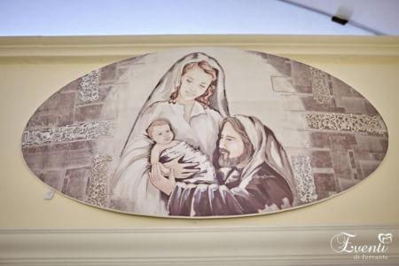 Sacra famiglia su medaglione curvo - ARTEMANIA