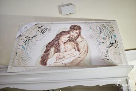 Sacra famiglia su tela decorato a mano - MONTMARTRE