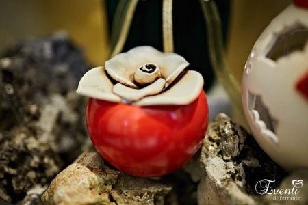 Scatola in terracotta con fiore - Ceramiche Artistiche Velier