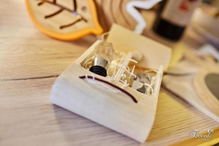 Set cavatappi e tappo con astuccio in legno