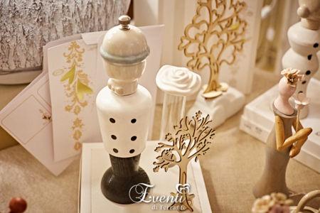 Sposo macinino pepe-sale in legno e porcellana - L'Infinito Bomboniere