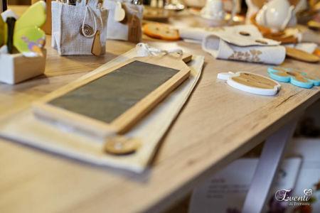 Tagliere in legno e ardesia rettangolare